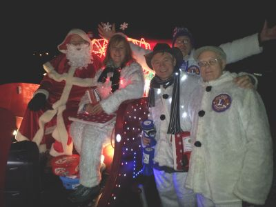 Father Christmas and snowmen helpers