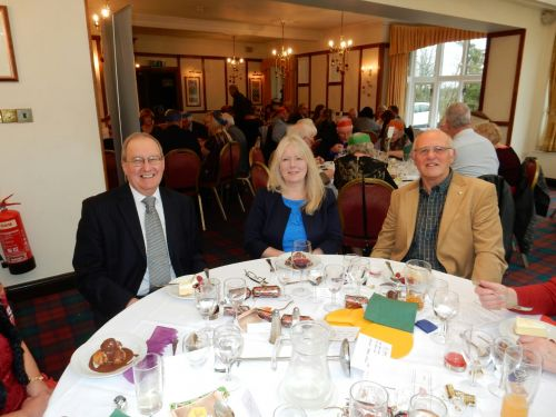 Paul and Jane Shilling with Graham Cooper
