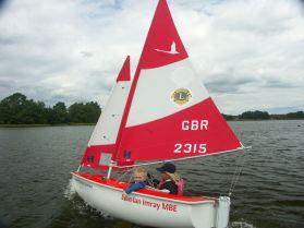 New Sailability dingy the Lion Ian Imray MBE