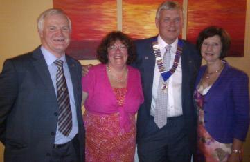 Left to right: Lion Ken Carter, Cherry Carter, Lion Brian Proctor and Jane Jaffare