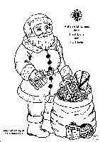 santa drawing to colour in